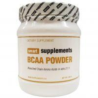BCAA en Polvo envase de 500 g de la marca Smart Supplements (BCAA Ramificados)