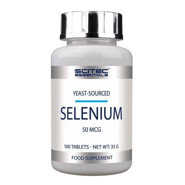 Selenium envase de 100 tabletas de la marca Scitec Essentials (Minerales)