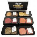Pack 4 Bandejas de 5 Hamburguesas 100% Frescas de Diet Premium (Hamburguesas Fit)