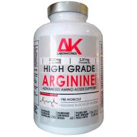 Arginina envase de 120 cápsulas de la marca AK Laboratories