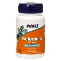 Selenio 100 mcg envase de 100 tabletas de Now Foods (Vitaminas y Minerales)