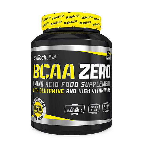BCAA Flash Zero envase de 700 g de la marca Biotech USA (BCAA Ramificados)