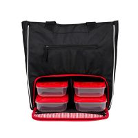 Prodigy Camille Tote [6pak] Black / Red