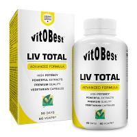 Liv Total de 60 cápsulas vegetales del fabricante VitoBest (Protectores Hepáticos)