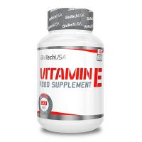 Vitamina E envase de 100 tabletas de la marca Biotech USA (Vitaminas)
