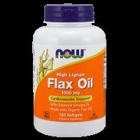 Aceite de Lino 1000 mg de alto Lignan - 120 softgels [Nowfoods]