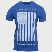 Camiseta Legacy of Strength Flag [Golds Gym]