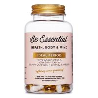 Ideal Period envase de 30 softgels + 30 cápsulas de la marca Be Essential (Especial Mujer)