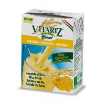Bebida de Arroz con Cúrcuma envase de 200ml de la marca Biocop (Bebidas Vegetales)