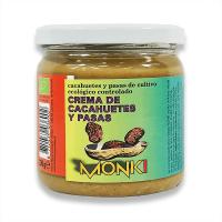 Crema de Cacahuetes y Pasas envase de 330g de Monki (Cremas de Cacahuete)