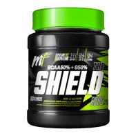 The Shield envase de 600g de la marca Menú Fitness (BCAA + Glutamina)