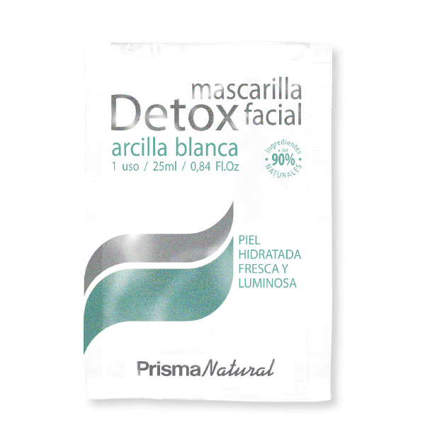 Detox Mascarilla Facial de 50x25ml de Prisma Natural (Cuidados Faciales)