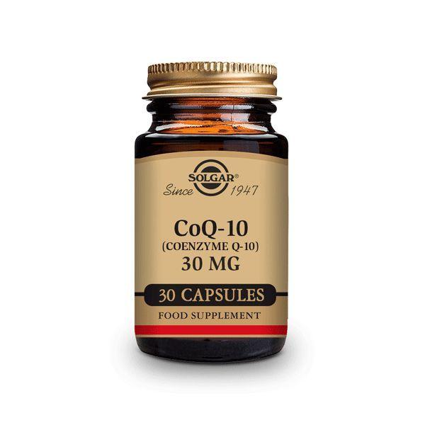 Coenzima Q-10 30mg envase de 30 cápsulas vegetales de la marca Solgar (Especial Mujer)
