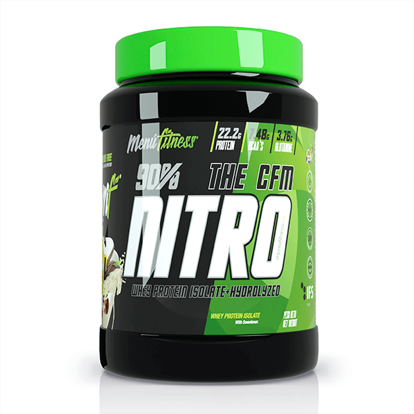 The Nitro CFM envase de 1kg de la marca Menú Fitness (Proteína de Aislado de Suero Isolate)