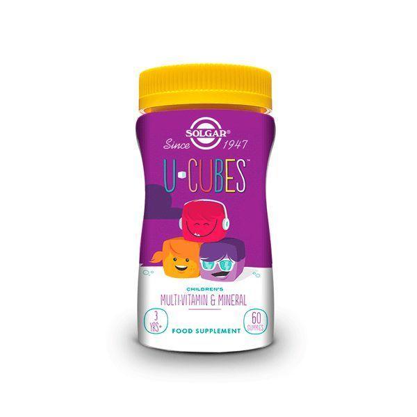 U-Cubes (Multinutriente con Vitaminas y Minerales para Niños) - 60 Gominolas [Solgar]