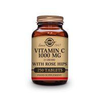 Vitamina C 1000mg Rose Hips envase de 250 tabletas del fabricante Solgar