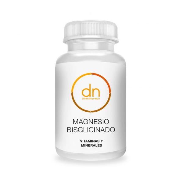 Magnesio Bisglicinado envase de 60 cápsulas del fabricante DirectNutrition