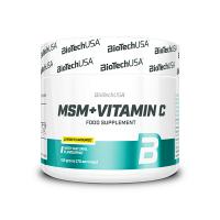 MSM + Vitamina C envase de 150g de la marca Biotech USA (MSM Metilsulfonilmetano)