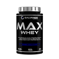 Max Whey envase de 900g de la marca Galvanize Nutrition (Proteina de Suero Whey)