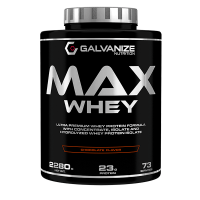 Max Whey envase de 2280g de la marca Galvanize Nutrition (Proteina de Suero Whey)