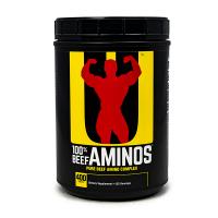 100% Beef Aminos envase de 400 comprimidos del fabricante Universal Nutrition (Esenciales e Hidrolizados)