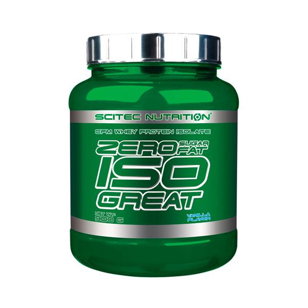 Zero IsoGreat de 900g de la marca Scitec Nutrition (Proteína de Aislado de Suero Isolate)