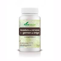 Levadura de Cerveza y Germen de Trigo de 500 tabletas de Soria Natural (Digestivos)