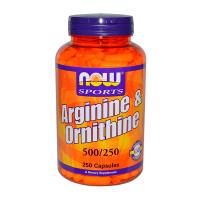 Arginine & Ornithine 500/250mg - 250 Caps