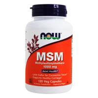 MSM 1000mg envase de 120 cápsulas del fabricante Now Foods (MSM Metilsulfonilmetano)