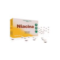 Niacina de 48 tabletas retardantes de Soria Natural (Vitamina B)