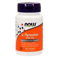 L Tyrosine 500mg envase de 120 cápsulas de Now Foods (Otros Quemadores)