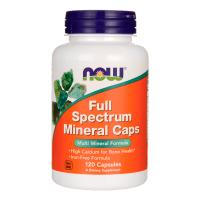Full Spectrum Minerals envase de 120 cápsulas de la marca Now Foods (Minerales)