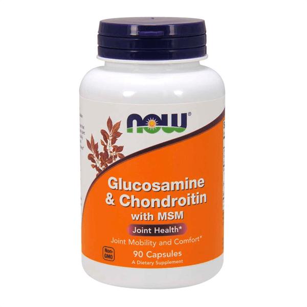 Glucosamina y Condroitina con MSM de 90 cápsulas de Now Foods