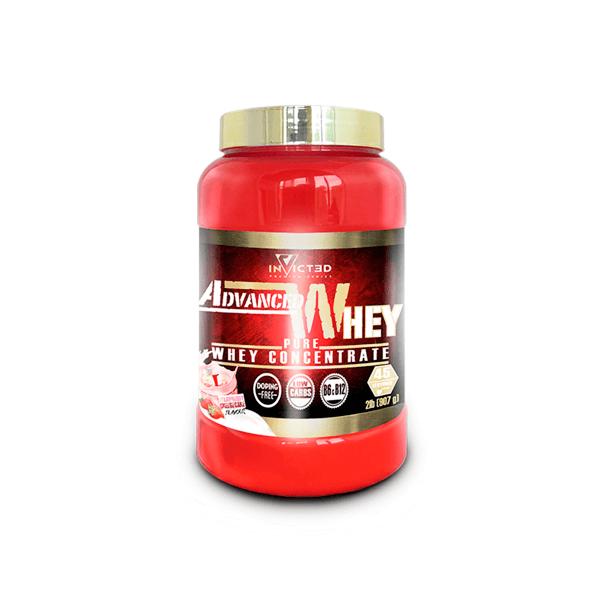 Advanced Whey envase de 907g de la marca Invicted (Proteina de Suero Whey)
