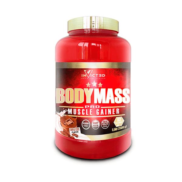 Body Mass de 2.5kg de la marca Invicted (Ganadores de Peso con proteína)