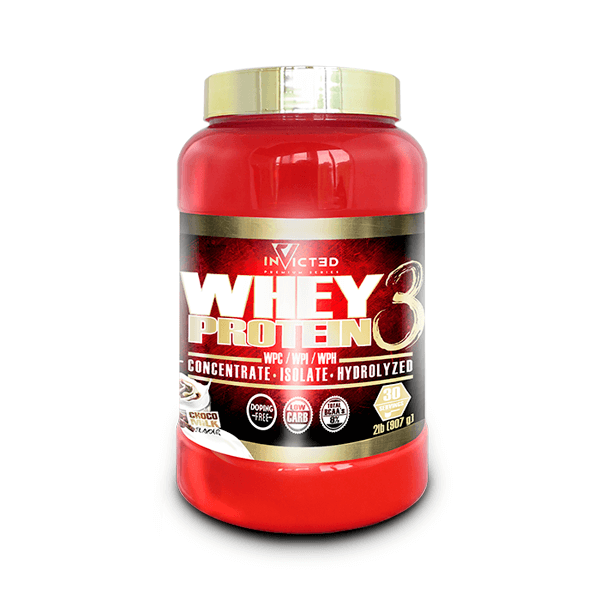 Whey Protein 3 envase de 907g de la marca Invicted (Proteina de Suero Whey)