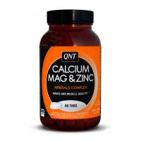 Calcio Magnesio y Zinc de 60 tabletas de la marca QNT (Formulas Mejoras Articulares)