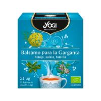 Balsámo para la Garganta envase de 12 bolsitas de Yogi Organic (Infusiones y tisanas)