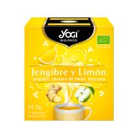 Ginger and lemon - 12 sachets Yogi Organic - 1