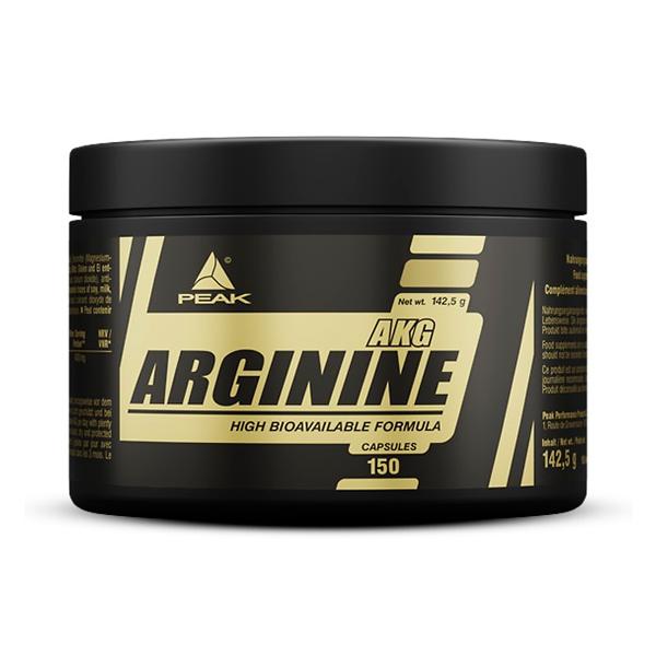 Arginina AKG de 150 cápsulas de la marca Peak