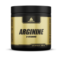 Arginina envase de 120 cápsulas de la marca Peak