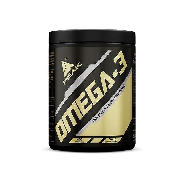 Omega 3 envase de 400 cápsulas de la marca Peak