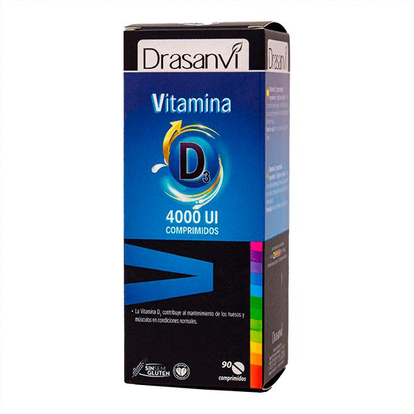 Vitamina D3 4000UI de 90 tabletas de la marca Drasanvi