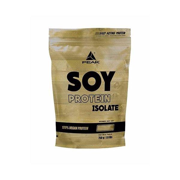 Soy Protein Isolate envase de 750 gr de la marca Peak (Proteína Vegetal y Veganos)