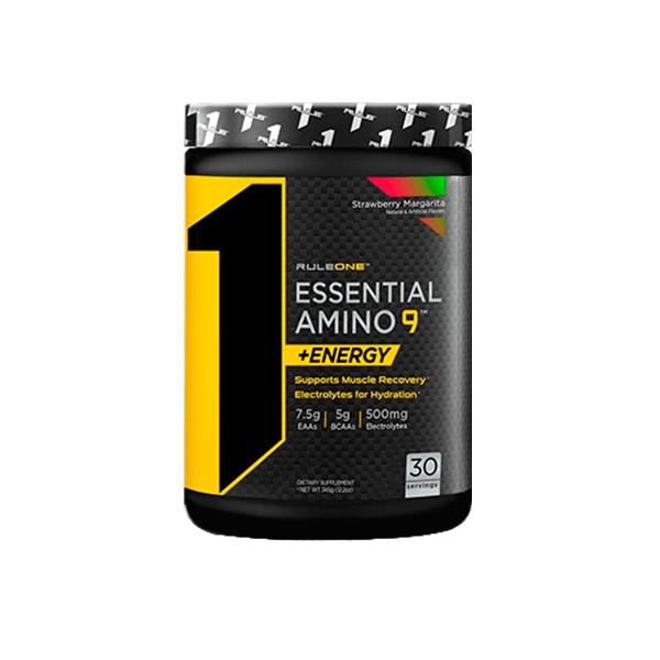 R1 Essential Amino 9 Energy de 345g de la marca Rule1 (Esenciales e Hidrolizados)