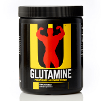 Glutamina en Polvo envase de 300g del fabricante Universal Nutrition