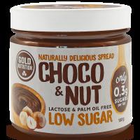 Choco and Nut de 180g de la marca GoldNutrition (Cremas de Chocolate Bajas en Calorias)
