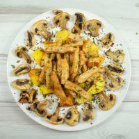 Pollo Heura 100% Vegetal con Patata Asada y Champiñon