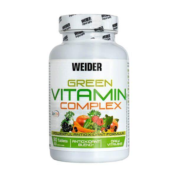 Green Vitamin Complex envase de 90 tabletas de Weider (Complejos Multivitaminicos)