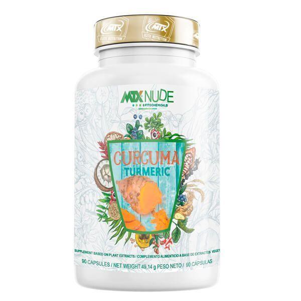 Cúrcuma envase de 90 cápsulas de MTX Nutrition (Antioxidantes)